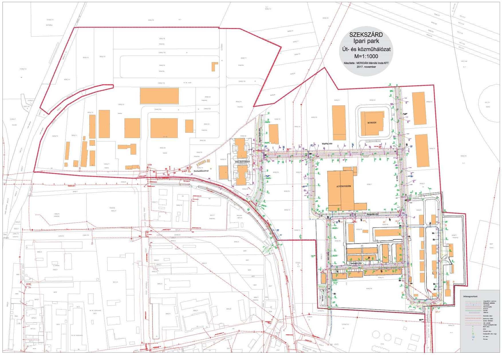 szekszárdi ipari park térkép telekosztás